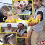 #Outdoorsex - im Gewitter #gefickt! #Deepthroat, #Ficken, Sperma